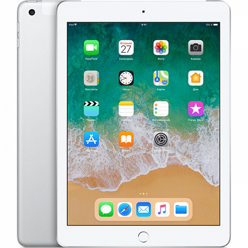 Планшет Apple iPad (2018) 32GB WiFi + Cellular Silver (MR6P2RU/A)