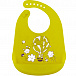 Нагрудник Happy Baby силиконовый Bib Pocket lime 16006