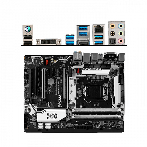 Материнская плата MSI Z170A Krait Gaming Z170 Socket-1151 4xDDR4, 6xSATA3, RAID, 1хM.2, 3xPCI-E16x, 4xUSB3.1, DVI, HDMI, Glan, ATX