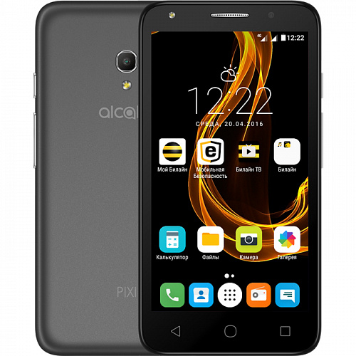 Смартфон Alcatel One Touch 5045D Pixi 4 (5) Black/Grey