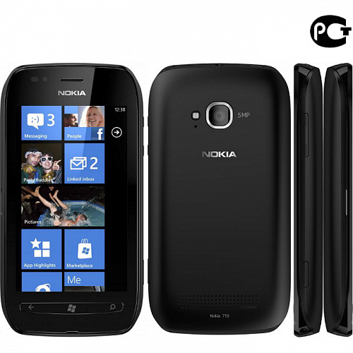Смартфон Nokia Lumia 710 Black
