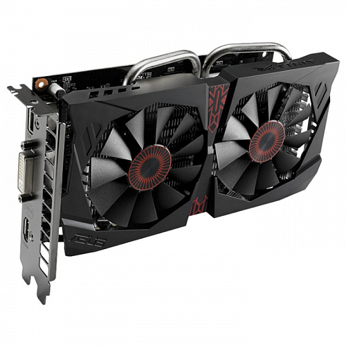 Видеокарта ASUS GeForce GTX 750 Ti 2048Mb, Strix-GTX750TI-OC-2GD5 DVI, HDMI, DP Ret