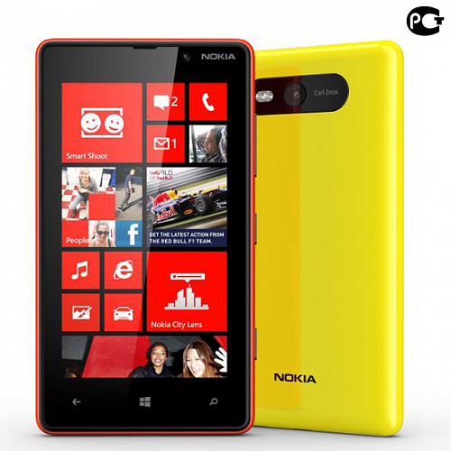 Смартфон Nokia Lumia 820 Yellow
