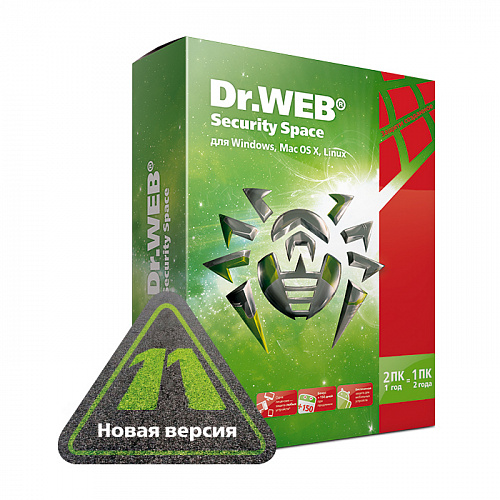 Антивирус Dr.Web Security Space (2 ПК на 1 год)