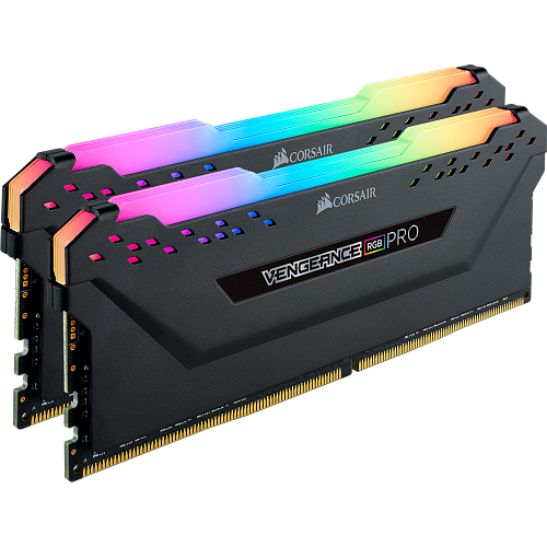 Модуль памяти DIMM 64Gb 4х16Gb DDR4 PC25600 3200MHz Corsair Vengeance RGB Pro Black Heat spreader, XMP (CMW64GX4M4C3200C16)