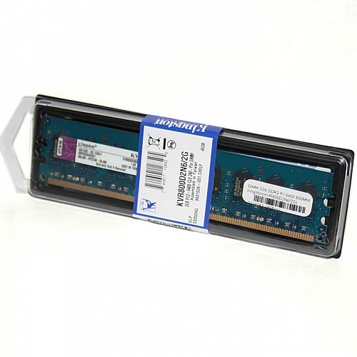 Модуль памяти DIMM 2Gb DDR2 PC6400 800MHz Kingston(KVR800D2N6/2G)