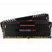 Модуль памяти DIMM 32Gb 2х16Gb DDR4 PC24000 3000MHz Corsair Vengeance Black Heat spreader, Red LED, XMP 2.0 (CMU32GX4M2C3000C15R)