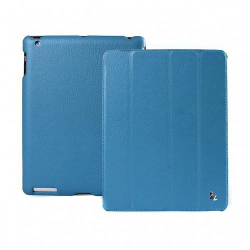 Чехол для iPad 4 Retina/iPad 2/The New iPad JISON Smart Leather Case экокожа голубой
